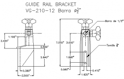 Guide rail bracket lateral conveyor design drawing