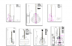 Guitar plan detail dwg.