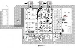 Gym Design Plan CAD Drawing Download