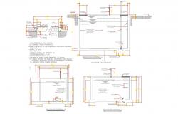 Hydro-pnematic pump equipment detail, autocad DWG files