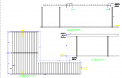 Handrailing detail view dwg file