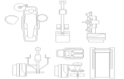 Hardware accessory blocks details for doctor's clinic dwg file