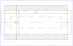 Hardware inner part section view dwg file