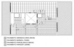 Hatching house plan detail dwg file