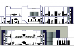 Health Center Architecture Design and Elevation dwg file