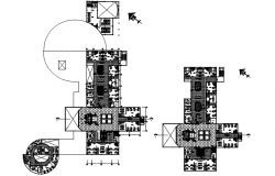 Health centre layout in dwg file
