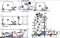 Health facilities center architecture project dwg file