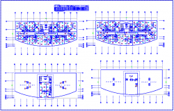 Heat ventilation and air conditioning system (HVAC) view for office building dwg file