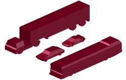 Heavy Loaded Vehicle Free CAD Blocks