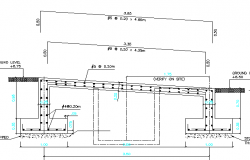 Heavy vehicle ramp bridge architecture project dwg file