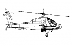 Helicopter front 2d elevation