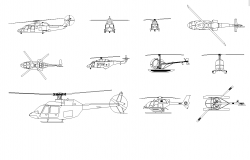 Helicopter plan detail dwg.