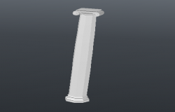 Hexagonal column 3d cad design block dwg file