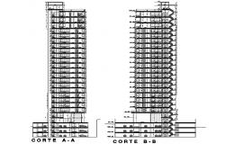 High Rise Building CAD Drawing