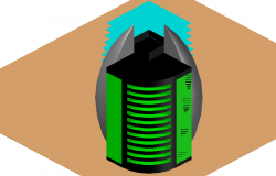 High Rise Building Detail in 3d