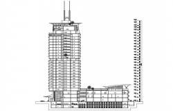 High Rise Building Section Drawing AutoCAD File