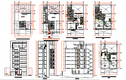 High Rise Building project design DWG file