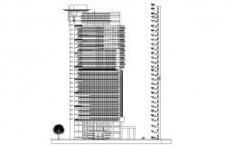 High Rise Commerce Building Facade Design CAD File