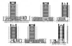High Rise Elevation Of Building DWG File