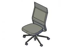 High back office chair 3d
