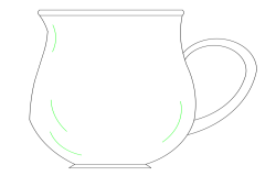 High end coffee cup block dwg file