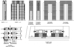 High rise Building detail dwg file