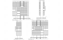High rise building Elevation detail dwg file