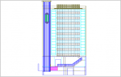 High rise building elevation dwg file