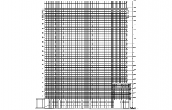 High rise building plan detail dwg file