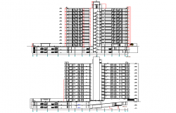 High rise building section plan detail dwg file