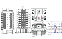 High rise commercial building plan detail dwg file