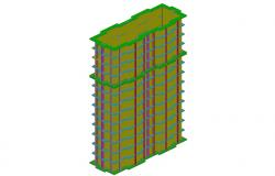 High rise corporate building 3d model cad drawing details dwg file