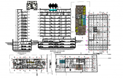 High rise plan and section detail dwg file