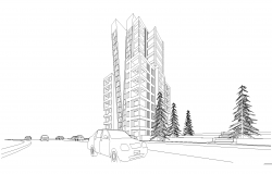 High rise residential building plan detail dwg file,