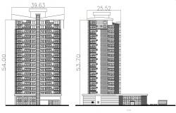 High Story Building Elevation AutoCAD File