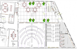 Higher Education Building Design and Section Details dwg file
