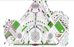 Higher education college building layout plan cad drawing details dwg file