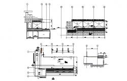 Highway bridge and road construction cad drawing details dwg file