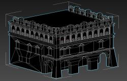 Historical Muslim Architecture Style Elevation Famous Building 3D MAX File Free