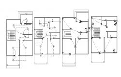 Home Electrical Wiring CAD Drawing Plan