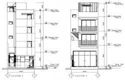 Home Elevation Design Free DWG File