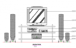 Home audio with speaker cad blocks dwg file