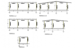 Home column section detail dwg file