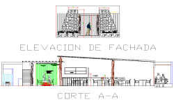 Home elevation and section detail dwg file