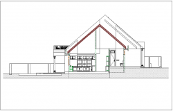Home elevation view dwg file