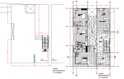 Home plan autocad file