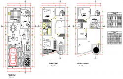 Home plan detail autocad file