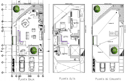 Home plan detail dwg file