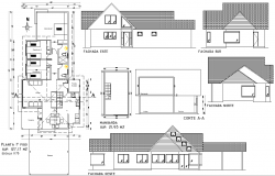 Home working planning autocad file