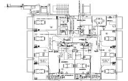 Hospital Admit Room CAD Drawing